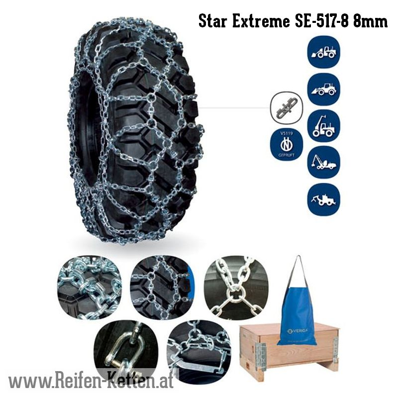 Veriga Star Extreme SE-517-8 8mm