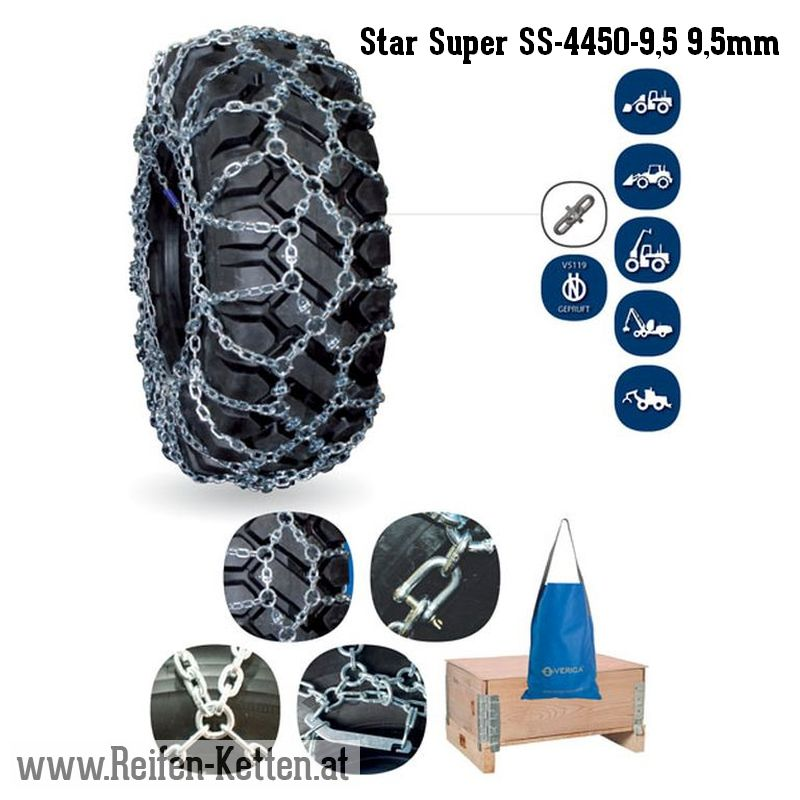 Veriga Star Super SS-4450-9,5 9,5mm