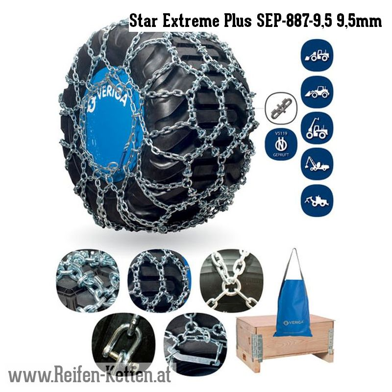 Veriga Star Extreme Plus SEP-887-9,5 9,5mm