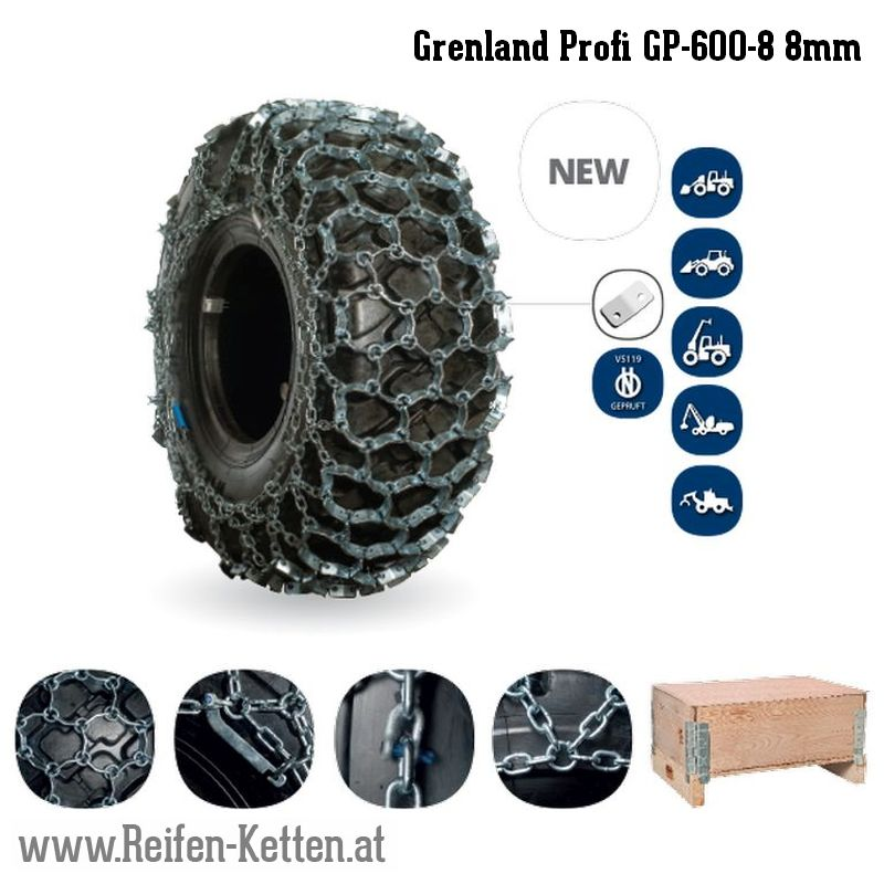 Veriga Grenland Profi GP-600-8 8mm